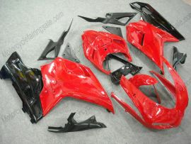 Ducati 848 / 1098 / 1198 2007-2009 Injection ABS verkleidung - Factory Style - Schwarz/Rot