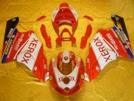 Ducati 749 / 999 2003-2004 Injection ABS verkleidung - Xerox - Weiß/Rot