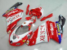 Ducati 749 / 999 2005-2006 Injection ABS verkleidung - Xerox - Rot/Weiß
