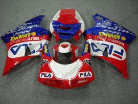 Ducati 748 / 998 / 996 Injection ABS verkleidung - FILA - Rot/Weiß/Blau
