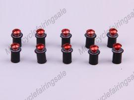 Rot 10 x Motorrad universal- Windschutzscheibe Schrauben Schraube