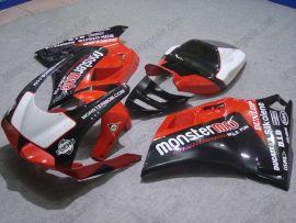 Ducati 748 / 998 / 996 Injection ABS verkleidung - Monstermob - Schwarz/Rot/Weiß