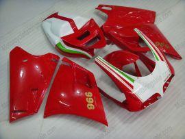 Ducati 748 / 998 / 996 Injection ABS verkleidung - anderen - Weiß/Rot