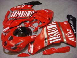 Ducati 749 / 999 2003-2004 Injection ABS verkleidung - Alice - Weiß/Rot