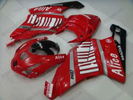 Ducati 749 / 999 2003-2004 Injection ABS verkleidung - Alice - Rot/Weiß