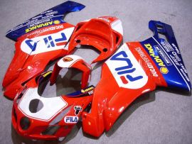 Ducati 749 / 999 2003-2004 Injection ABS verkleidung - FILA - Rot/Blau