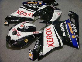 Ducati 749 / 999 2003-2004 Injection ABS verkleidung - Xerox - Schwarz/Weiß