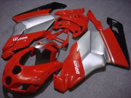 Ducati 749 / 999 2005-2006 Injection ABS verkleidung - Factory Style - Rot/Silber