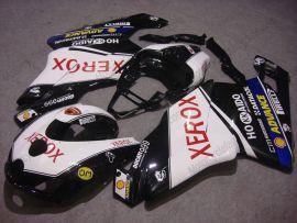 Ducati 749 / 999 2005-2006 Injection ABS verkleidung - Xerox - Schwarz/Weiß