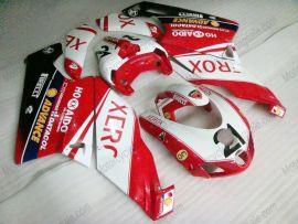 Ducati 749 / 999 2005-2006 Injection ABS verkleidung - Xerox - Weiß/Rot