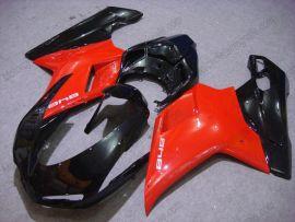 Ducati 848 / 1098 / 1198 2007-2009 Injection ABS verkleidung - anderen - Schwarz/Rot