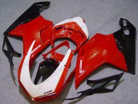 Ducati 848 / 1098 / 1198 2007-2009 Injection ABS verkleidung - anderen - Rot/Schwarz/Weiß