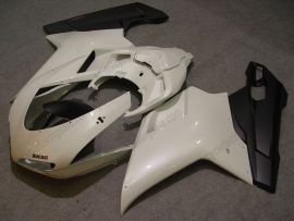 Ducati 848 / 1098 / 1198 2007-2009 Injection ABS verkleidung - anderen - Weiß/Schwarz