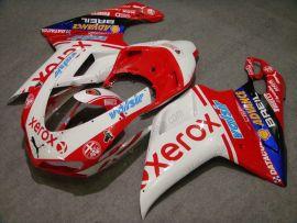 Ducati 848 / 1098 / 1198 2007-2009 Injection ABS verkleidung - Xerox - Rot/Weiß