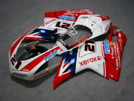 Ducati 848 / 1098 / 1198 2007-2009 Injection ABS verkleidung - Xerox - Weiß/Rot
