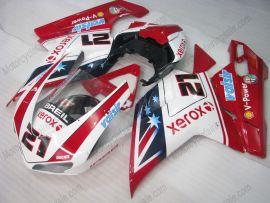 Ducati 848 / 1098 / 1198 2007-2009 Injection ABS Fairing - Xerox - Rot/Weiß