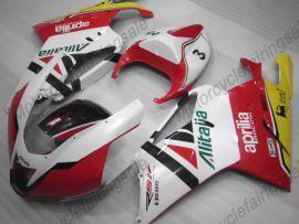 Aprilia RSV1000R 2004-2006 Injection ABS verkleidung - Flame - Weiß/Rot