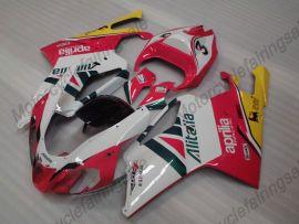 Aprilia RSV1000R 2004-2006 Injection ABS verkleidung - anderen - Weiß/Rot