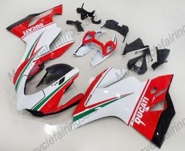 Ducati 1199 2012-2014 Injection ABS verkleidung - andere - Weiß/Rot