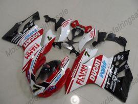 Ducati 1199 2012-2014 Injection ABS verkleidung - FIAMM - Weiß/Rot