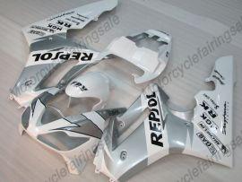 Triumph Daytona 675 2006-2008 Injection ABS verkleidung - Repsol - Weiß/Silber
