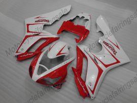 Triumph Daytona 675 2006-2008 Injection ABS verkleidung - anderen - Weiß/Rot