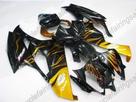 Yamaha YZF-R6 2006-2007 Injection ABS verkleidung - gelbFlame - Schwarz