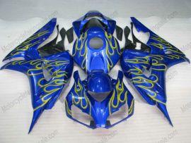 Honda CBR1000RR 2006-2007 Injection ABS verkleidung - Gelb Flame - Blau