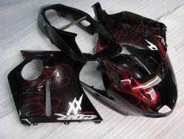 Honda CBR 1100XX BLACKBIRD 1996-2007 Injection ABS verkleidung - Flame - Rot Flame