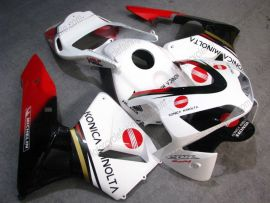 Honda CBR 600RR F5 2003-2004 Injection ABS verkleidung - Konica Minolta  - Weiß/Schwarz/Rot