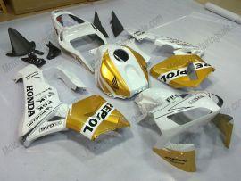 Honda CBR 600RR F5 2003-2004 Injection ABS verkleidung - Repsol - Golden/Weiß