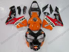 Honda CBR 600RR F5 2003-2004 Injection ABS verkleidung - Repsol - Orange/Schwarz/Rot