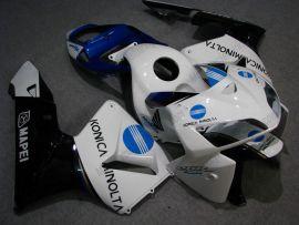 Honda CBR 600RR F5 2005-2006 Injection ABS verkleidung - Konica Minolta - Weiß/Schwarz/Blau