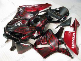 Honda CBR 600RR F5 2005-2006 Injection ABS verkleidung - Rot Flame  - Schwarz