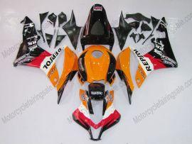 Honda CBR 600RR F5 2007-2008 Injection ABS verkleidung - Repsol - Schwarz/Orange