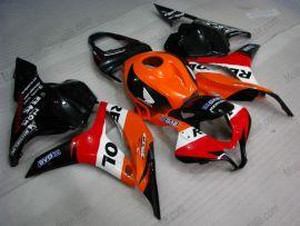 Honda CBR 600RR F5 2009-2012 Injection ABS verkleidung - Repsol - Orange/Schwarz