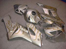 Honda CBR1000RR 2004-2005 Injection ABS verkleidung - braun Flame - Silber