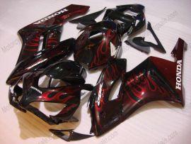 Honda CBR1000RR 2004-2005 Injection ABS verkleidung - Flame - Schwarz/Rot