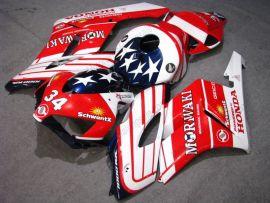 Honda CBR1000RR 2004-2005 Injection ABS verkleidung - Moriwaki - Weiß/Rot