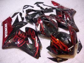 Honda CBR1000RR 2004-2005 Injection ABS verkleidung - Rot Flame - Schwarz