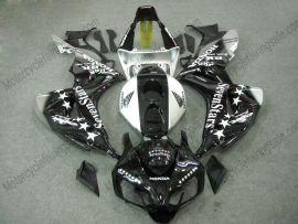 Honda CBR1000RR 2006-2007 Injection ABS verkleidung - SevenStars - Schwarz/Weiß