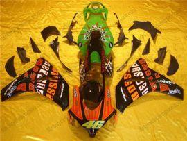 Honda CBR1000RR 2008-2011 Injection ABS verkleidung - Rossi - Grün/Schwarz/Orange