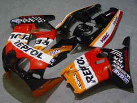 Honda CBR250RR MC19 1988-1989 Injection ABS Verkleidung - Repsol - Orange/Schwarz/Rot