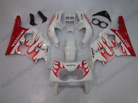 Honda CBR400RR NC29 1990-1998 ABS Verkleidung - Rot Flame - Weiß