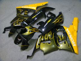 Honda CBR400RR NC29 1990-1998 ABS Verkleidung - Gelb Flame - Schwarz