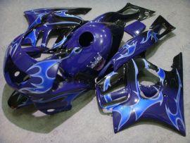 Honda CBR600 F3 1995-1996 Injection ABS Verkleidung - Blau Flame - Schwarz/Blau