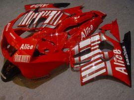 Honda CBR600 F3 1997-1998 Injection ABS verkleidung - Alice - Rot/Weiß