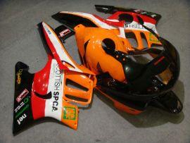 Honda CBR600 F3 1997-1998 Injection ABS Verkleidung - Repsol - Orange/Schwarz/Rot