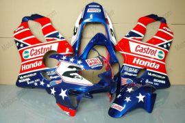 Honda CBR600 F4 1999-2000 Injection ABS verkleidung - Castrol - Blau/Rot