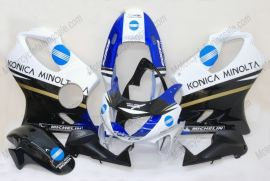 Honda CBR600 F4 1999-2000 Injection ABS Verkleidung - Konica Minolta - Blau/Schwarz/Weiß